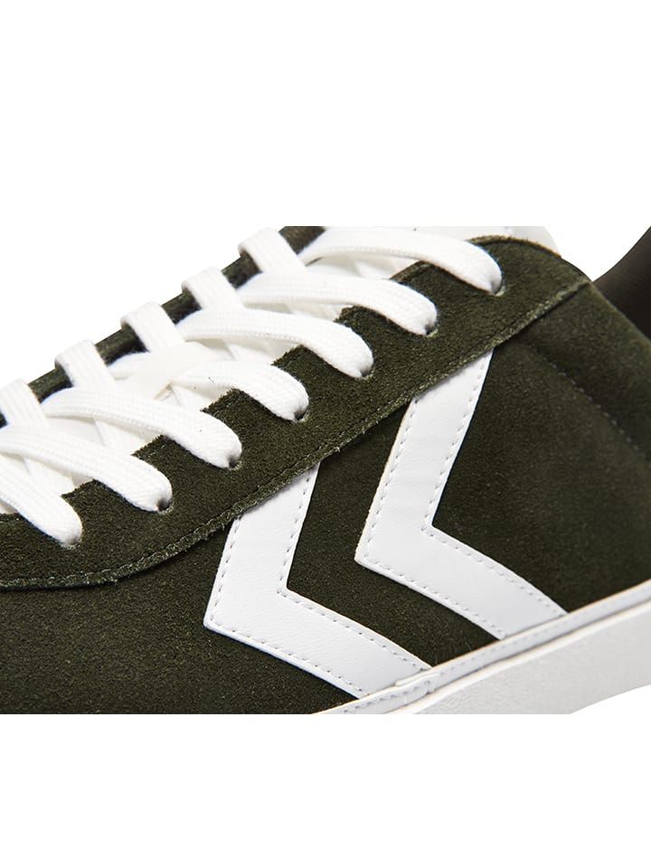 Hummel Leder-Sneakers Diamant Suede in Khaki