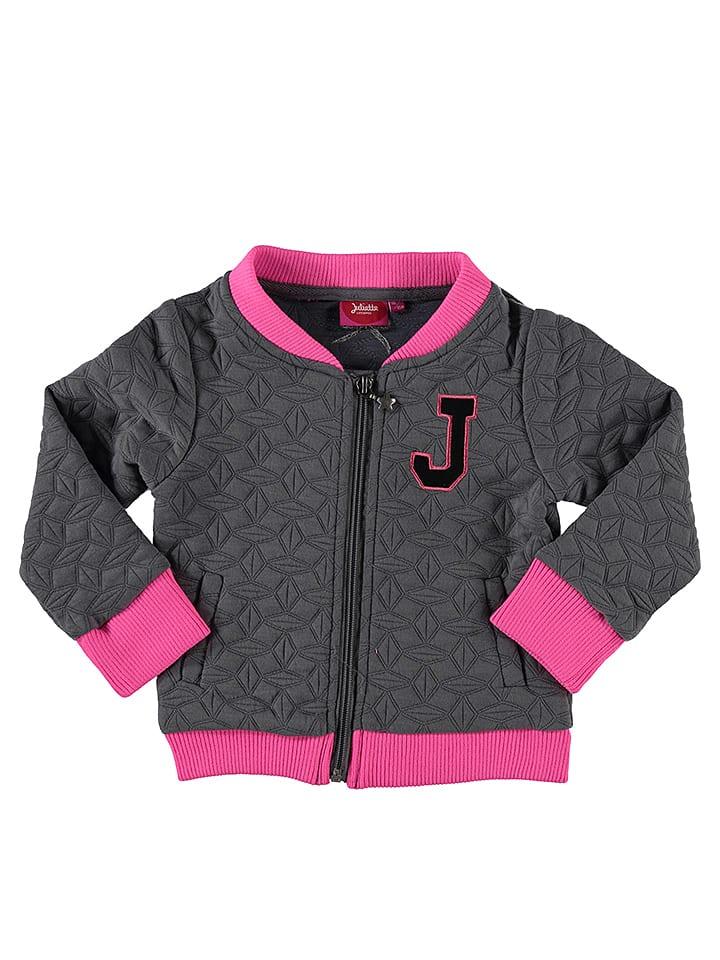 Little Miss Juliette Jacke in Grau/ Pink