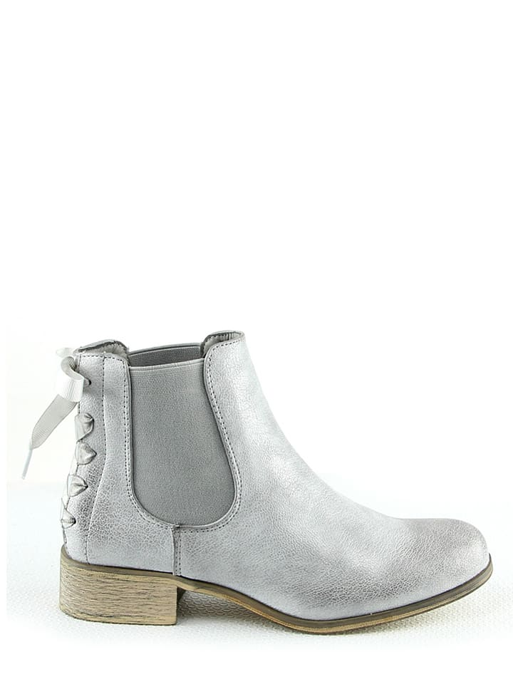 Foreverfolie Chelsea-Boots in Silber - 66% fwg3n5