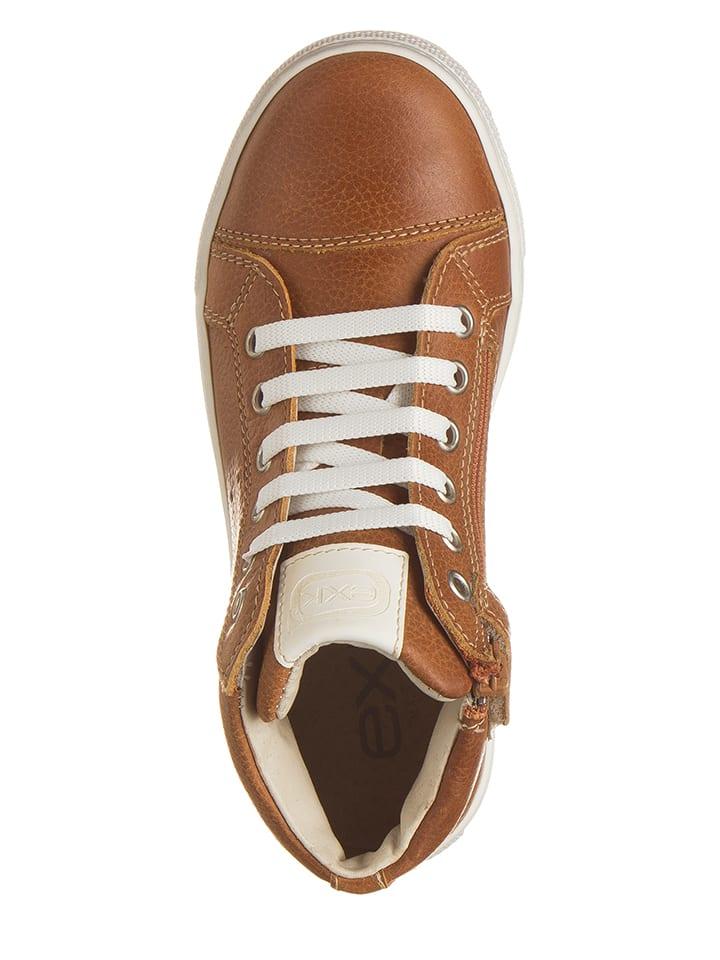 EXK Leder-Sneakers in Hellbraun