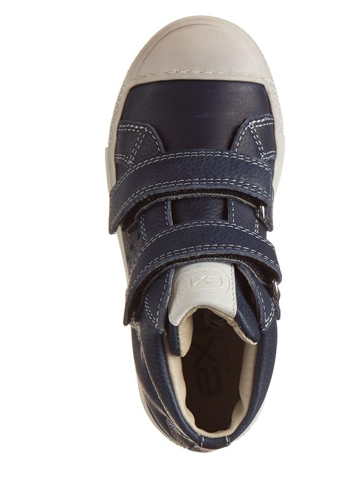 EXK Leder-Sneakers in Dunkelblau