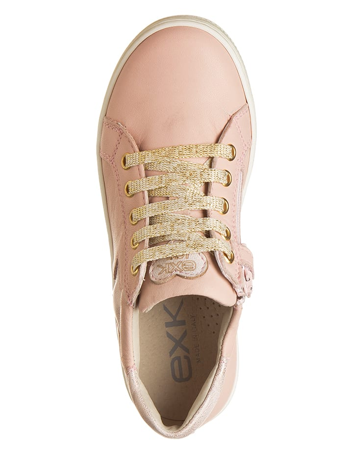 EXK Leder-Sneakers in Rosa