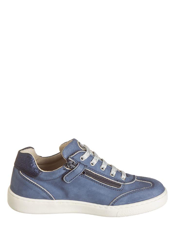 EXK Leder-Sneakers in Blau
