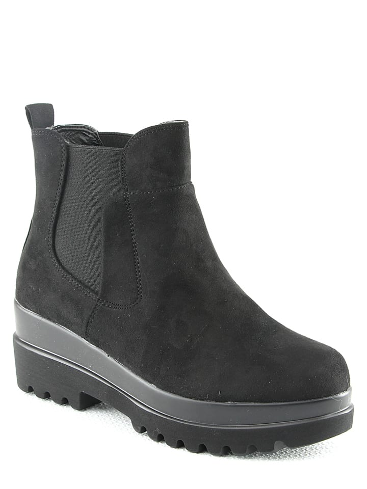 R and BE Chelseaboots zwart