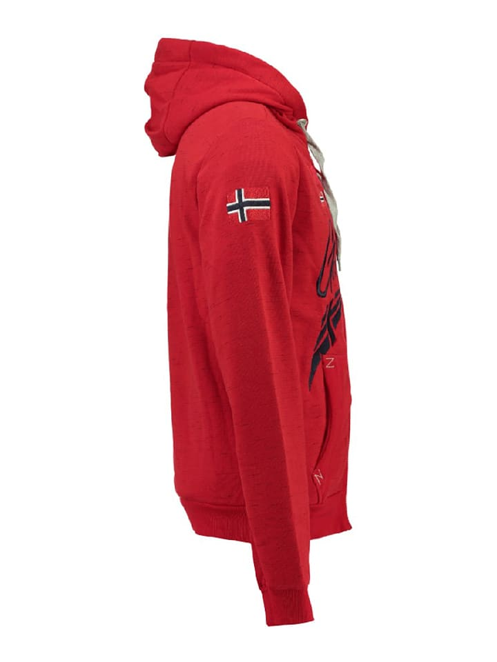 Geographical Norway Sweatjacke Foliday in Rot