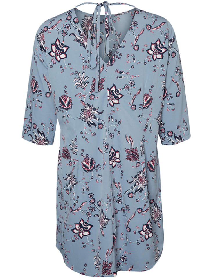 JUNAROSE Kleid Maya in Hellblau/ Bunt