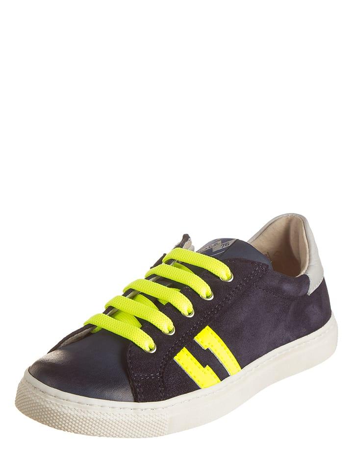 3,0 scream Leder-Sneakers in Dunkelblau - 61%