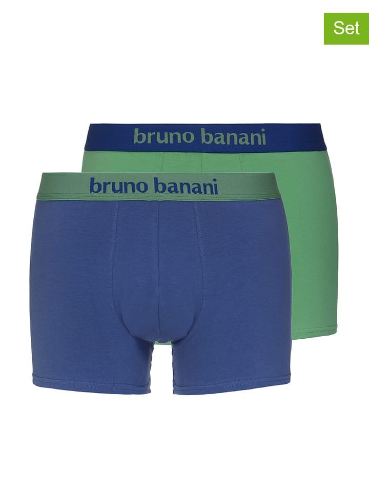 2er Banani Bruno 2er in Banani in Gr眉n Set Boxershorts Set Boxershorts Blau Bruno q0qBwY