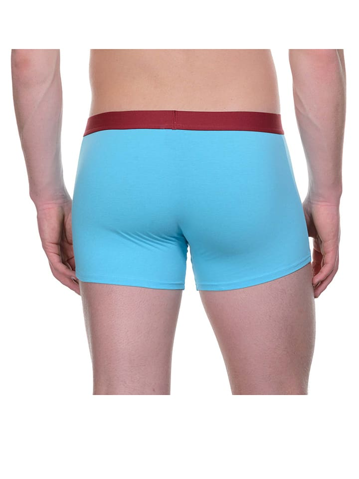 Bruno Banani 2er-Set: Boxershorts in Bordeaux/ T眉rkis