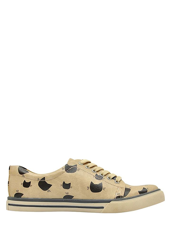 Dogo Sneakers Over Cat in Beige/ Schwarz