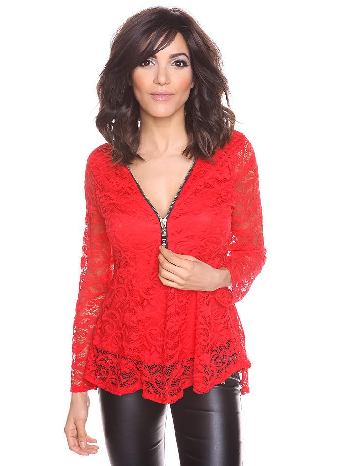 Scarlet Jones Shirt Cynthia in Rot