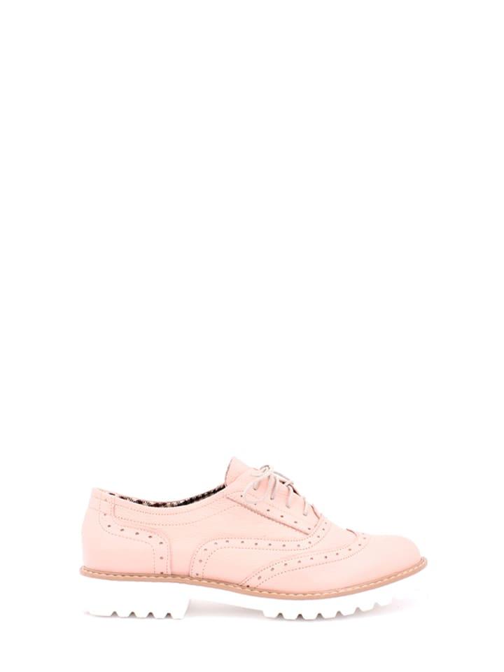 Zapato Leder-Schnürschuhe in Rosa - 47% gQOGWfuiR