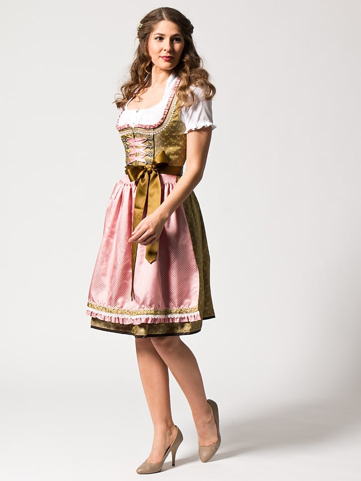 kr ger midi dirndl in gr n rosa limango outlet. Black Bedroom Furniture Sets. Home Design Ideas