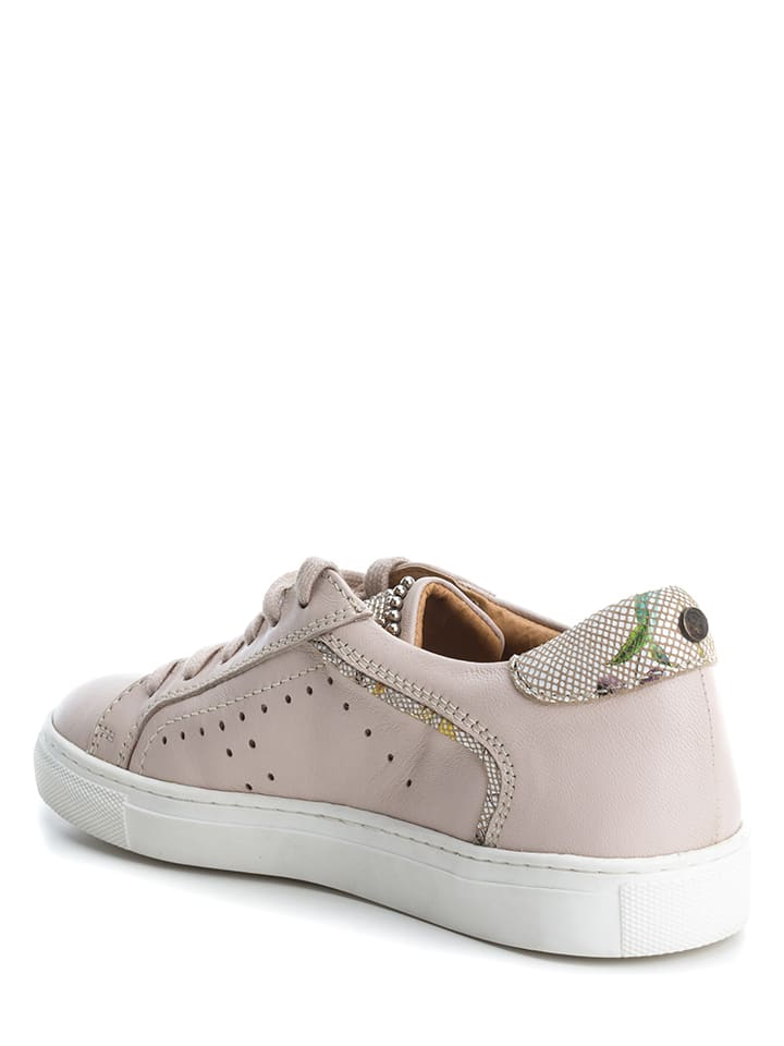 CARMELA Leder-Sneakers in Nude - 51%