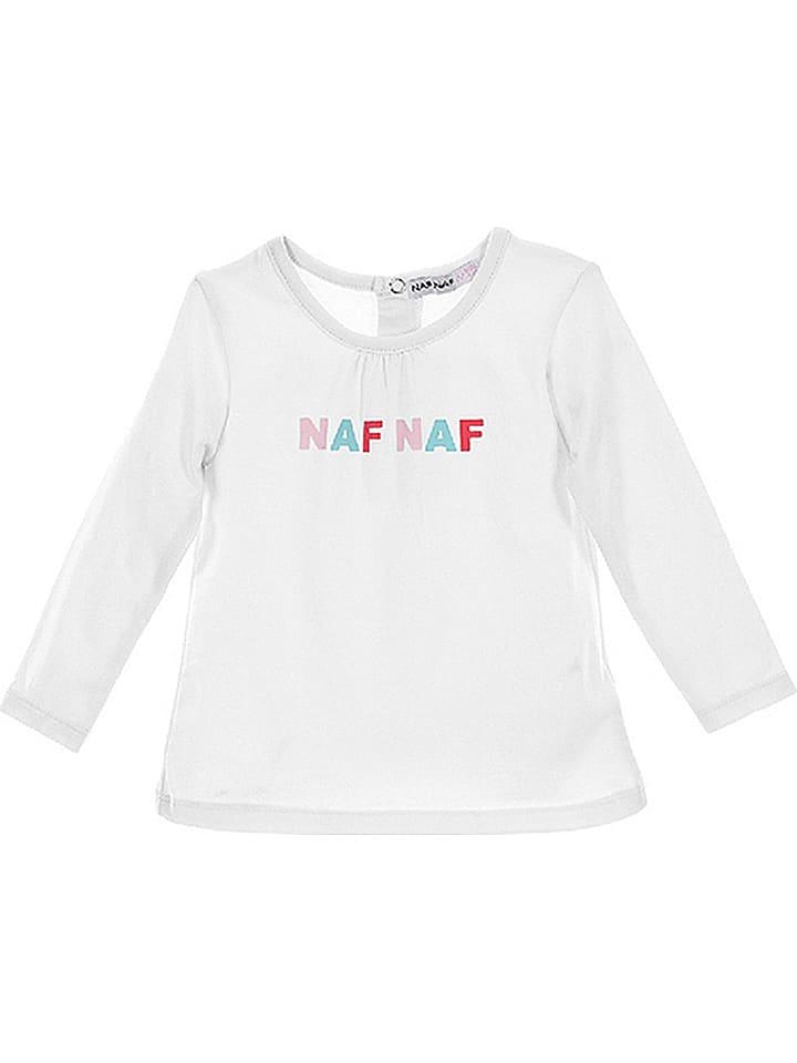 Naf Naf Longsleeve in Weiß