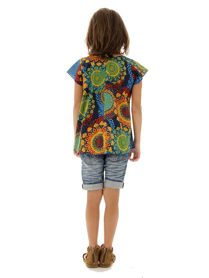 Aller Simplement Shirt in Grün/ Bunt