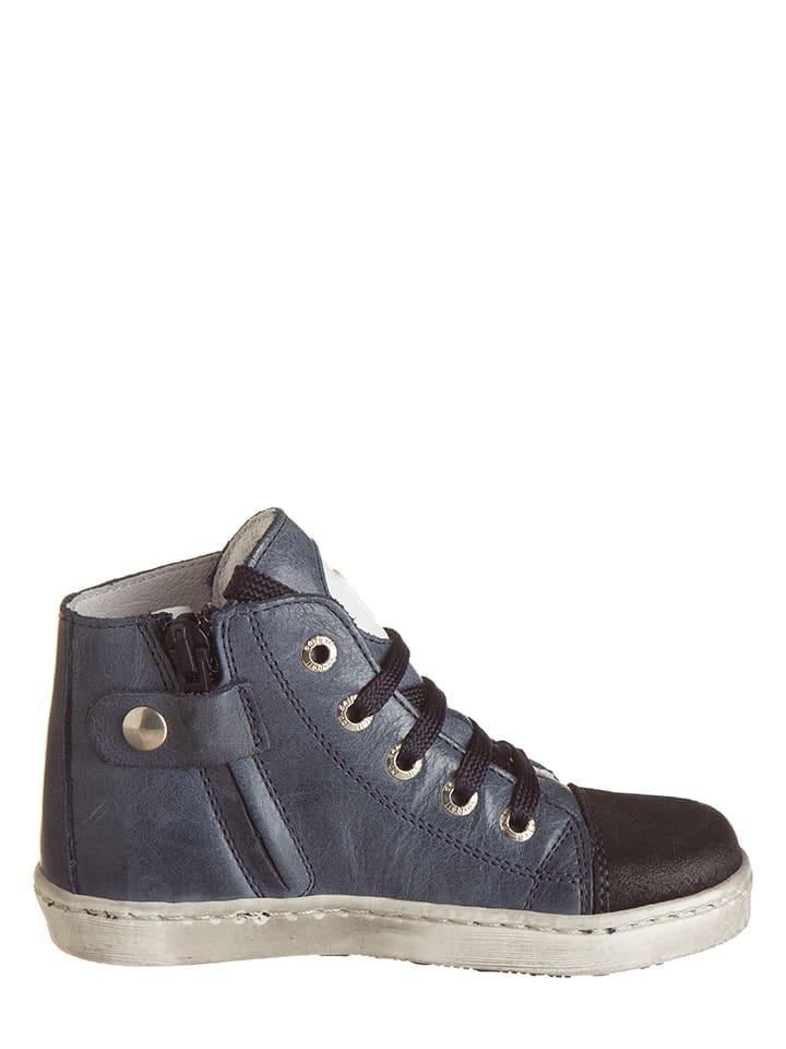 BO-BELL Leder-Sneakers in Dunkelblau - 58% mBU43