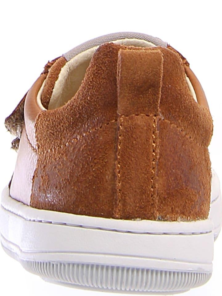 Naturino Leder-Sneakers Caleb in Hellbraun