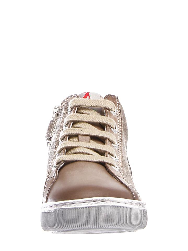 Naturino Leder-Sneakers Living in Beige