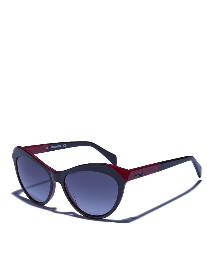 Diesel Damen-Sonnenbrille in Rot-Schwarz - 61% YxKwN