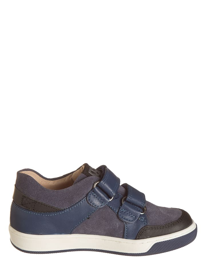 Garvalin Leder-Sneakers in Dunkelblau