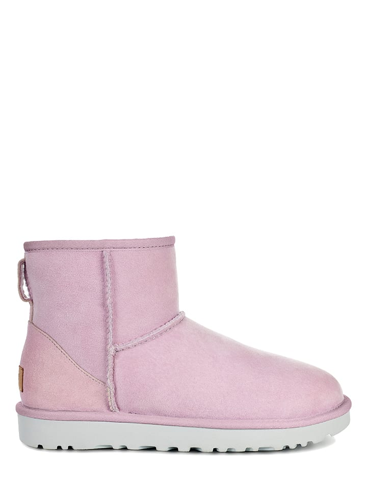 UGG Leder-Boots Classic Mini II in Flieder - 55% z2FTaBY