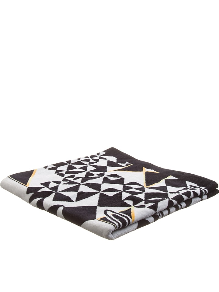 Longboard Handdoek zwart/wit - (L)150 x (B)75 cm