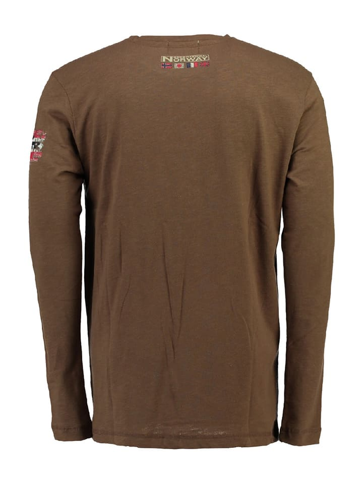 """Geographical Norway Longsleeve """"Jlacier"""" in Taupe"""
