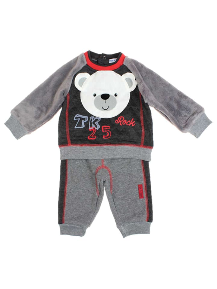 TOM & KIDDY 2tlg. Outfit in Grau/ Schwarz