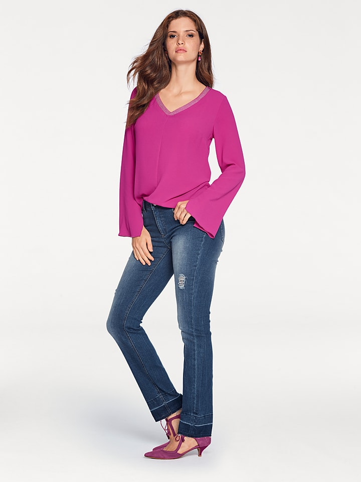 Ashley brooke by heine Bluse in Pink