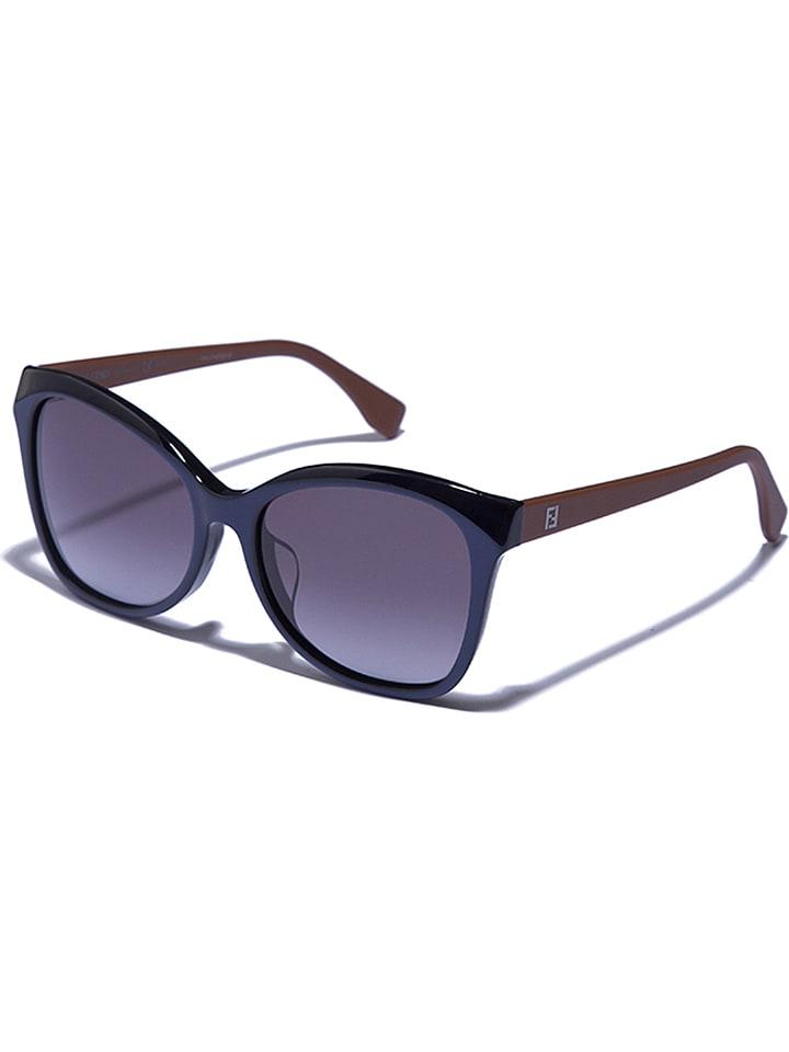 Fendi Damen-Sonnenbrille in Dunkelblau-Braun - 62% auNydvL9