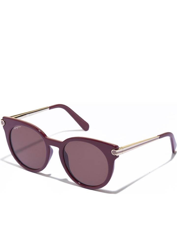 446b0bf06cf4 Salvatore Ferragamo Okulary damskie w kolorze bordowo-złoto-brązowym