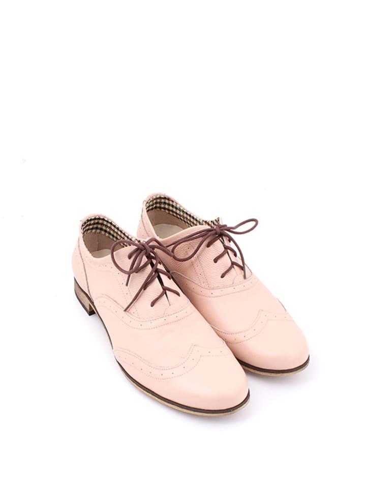 Zapato Leder-Schnürschuhe in Rosa - 65% Ci3s0