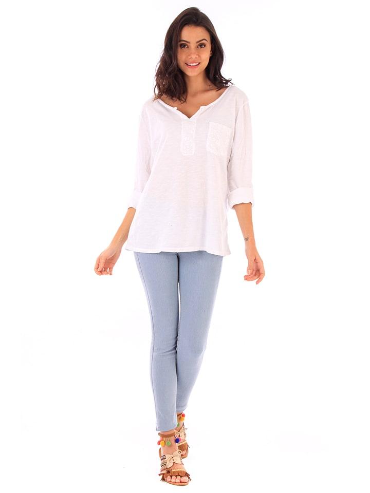 100% Coton Shirt in Wei