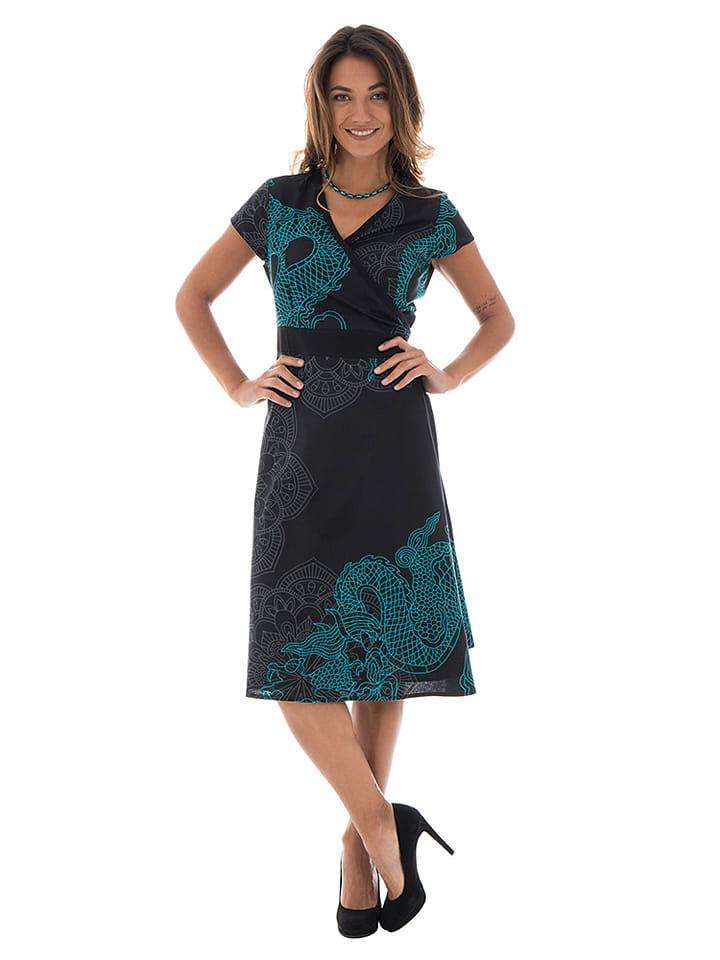Aller Simplement - Kleid in Schwarz/ Blau   limango Outlet