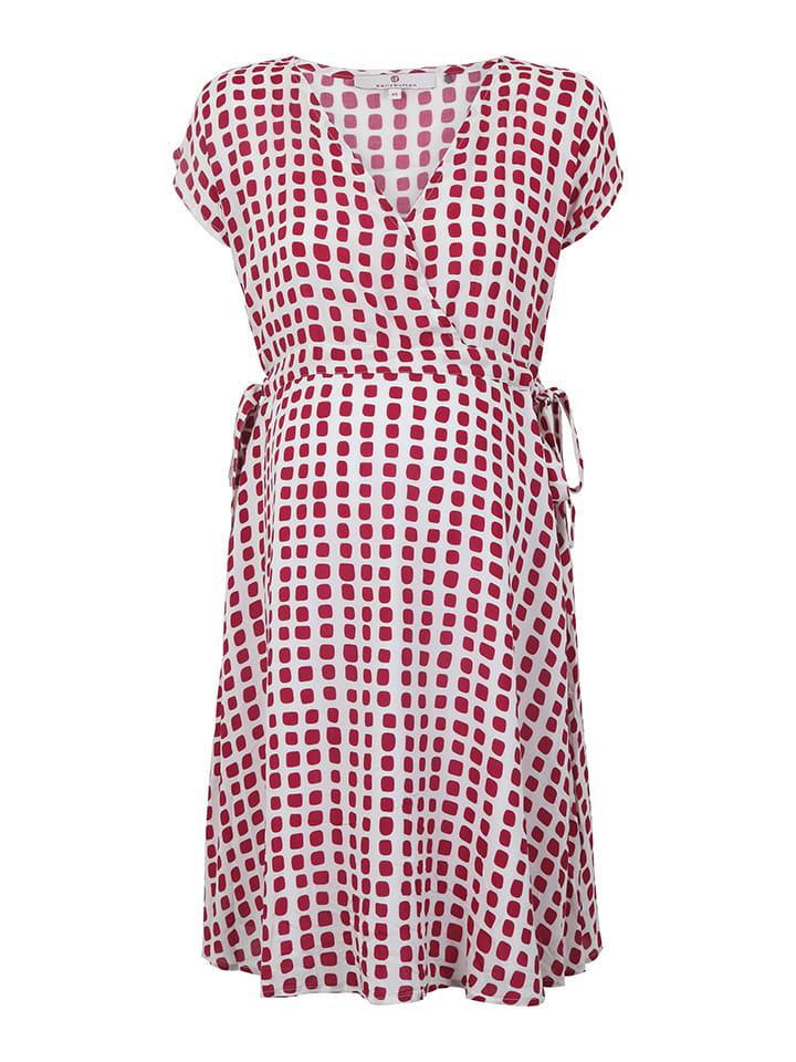 Bellybutton Kleid in Rot/ Weiß