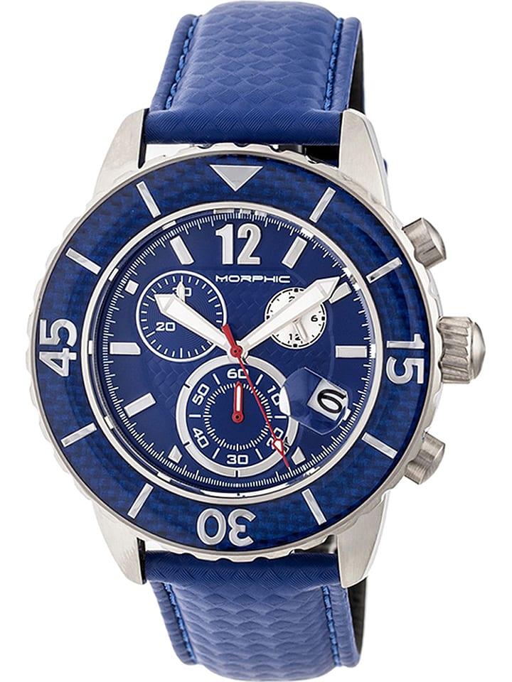 """Morphic Chronographe """"M51 Series"""" - bleu/argenté"""