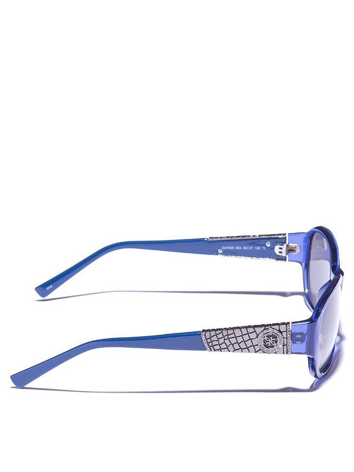 Guess - Lunettes de soleil - femme - bleu gris   Outlet limango 1a763a15dbb2