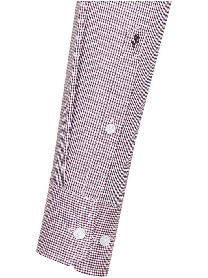Seidensticker Hemd - Tailored - in Rot/ Wei