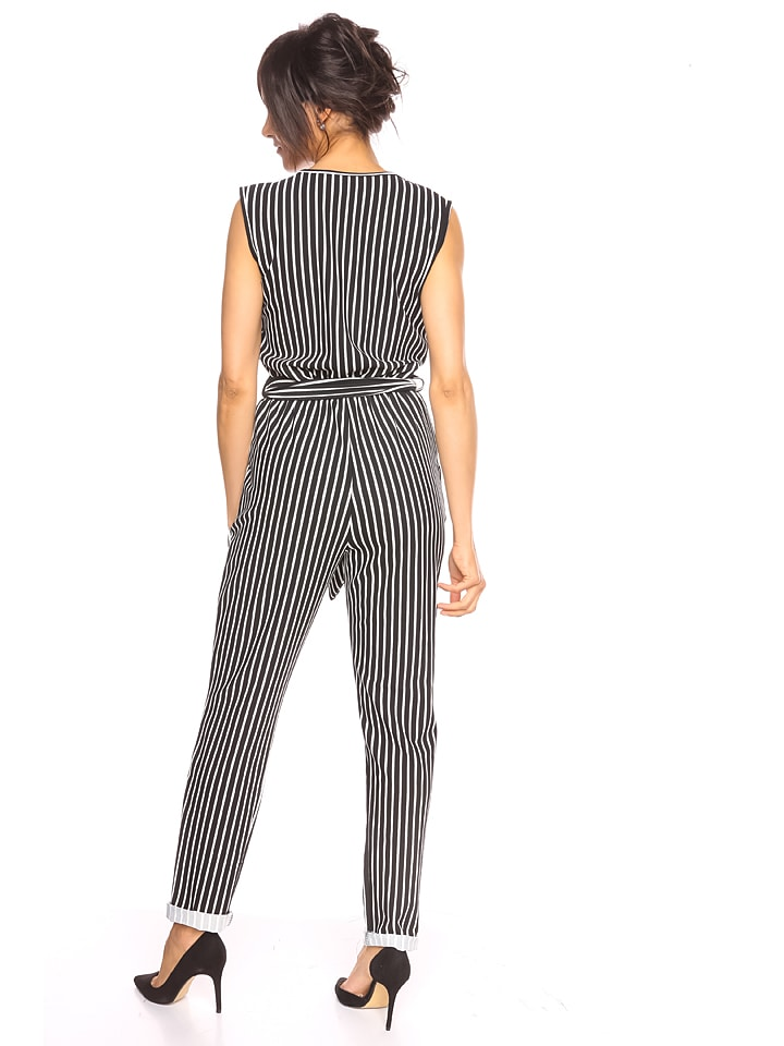 "Scarlet Jones Jumpsuit ""Maria"" in Schwarz/ Wei"