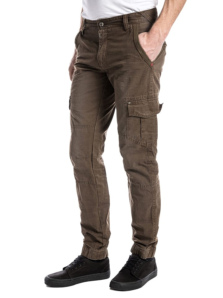 "Timezone Cargohose ""Hunter"" - Slim fit - in Braun"