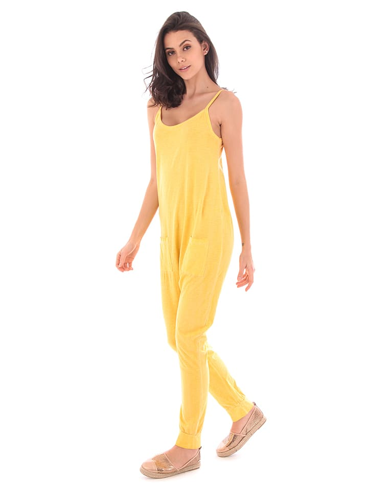 100% Coton Jumpsuit in Gelb