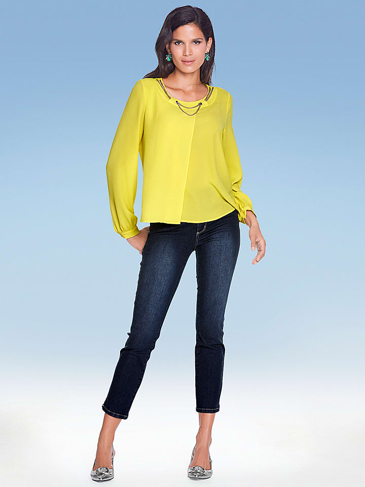 Ashley brooke by heine Bluse in Gelb