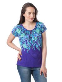 Mexx Shirt in Lila/ Türkis