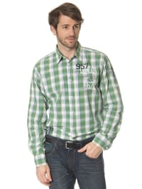 Tom Tailor Hemd in Grün/ Weiß