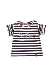 ZieZoo T-Shirt mit Aufschrift in marine/ weiß