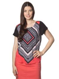 Mexx Shirt in Schwarz/ Koralle