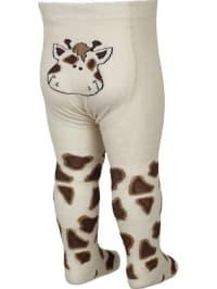 """FiZter Kidswear Strumpfhose """"Giraffe"""" in Beige/ Braun"""