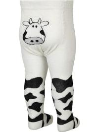 """FiZter Kidswear Strumpfhose """"Cow"""" in Weiß/ Schwarz"""
