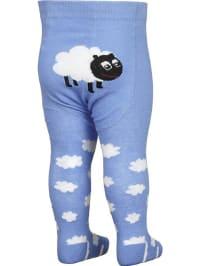 """FiZter Kidswear Strumpfhose """"Sheep"""" in Blau/ Weiß"""